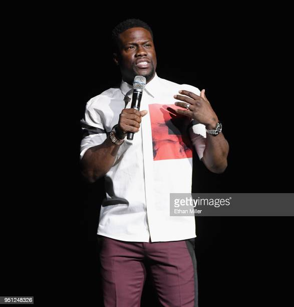 Actor Kevin Hart speaks onstage during CinemaCon 2018 Universal Pictures Invites You to a Special Presentation Featuring Footage from its Upcoming...