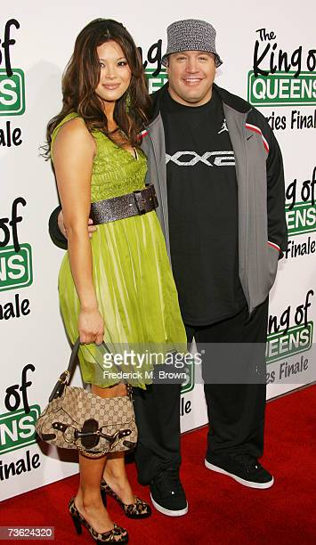 Actor Kevin James and his wife Steffiana De La Cruz attend 'The King of Queens' final season wrap party at Boulevard 3 on March 17 2007 in Hollywood...