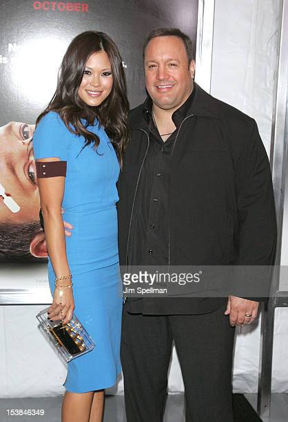 Actor Kevin James and wife Steffiana de la Cruz attend the Here Comes The Boom premiere at AMC Loews Lincoln Square on October 9 2012 in New York City