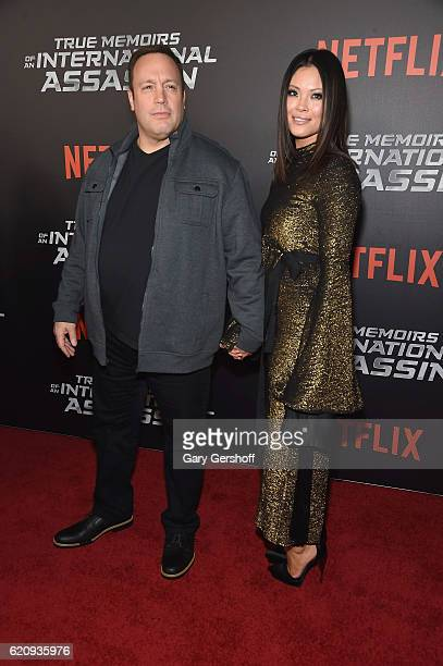 Actor Kevin James and wife Steffiana de la Cruz attend the True Memoirs Of An International Assassin New York premiere at AMC Lincoln Square Theater...
