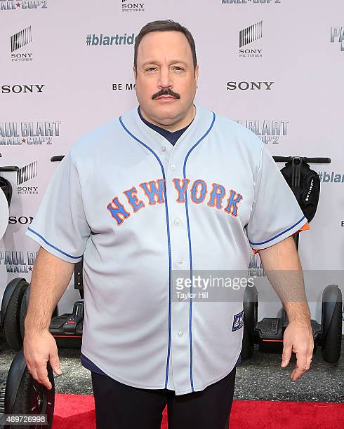 Actor Kevin James attends the 'Paul Blart Mall Cop 2' New York Premiere at AMC Loews Lincoln Square on April 11 2015 in New York City