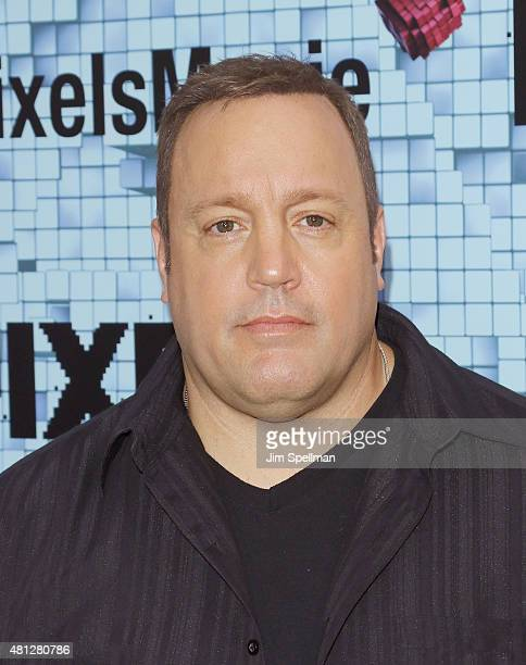 Actor Kevin James attends the 'Pixels' New York premiere at Regal EWalk on July 18 2015 in New York City