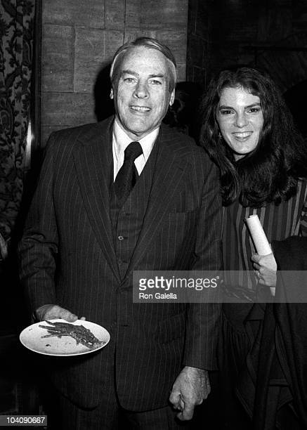 Actor Kevin McCarthy and wife Kate Crane attend 500th Show Party for Hour Magazine on February 8 1983 at Lucille Mead Lamb in Hollywood California