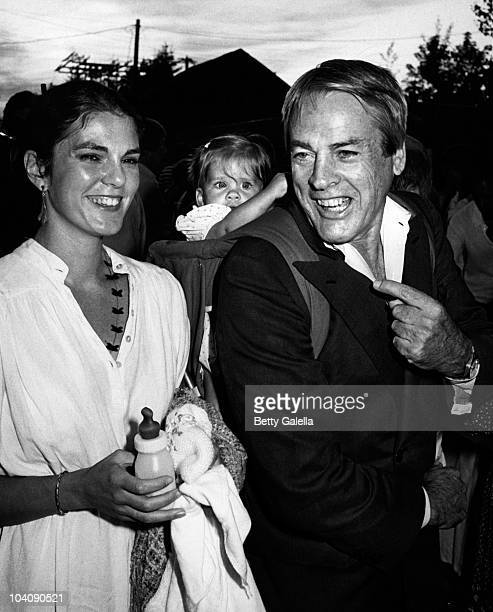 Actor Kevin McCarthy wife Kate Crane and daughter Lillah McCarthy sighted on July 12 1980 at Laundry in East Hampton New York