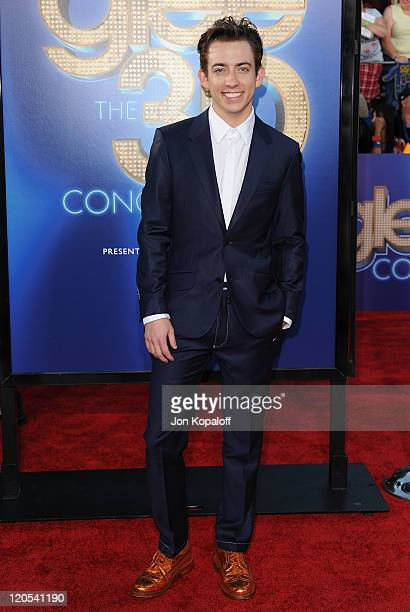 """Actor Kevin McHale arrives at the Los Angeles Premiere """"GLEE: The 3D Concert Movie"""" at Regency Village Theatre on August 6, 2011 in Westwood,..."""