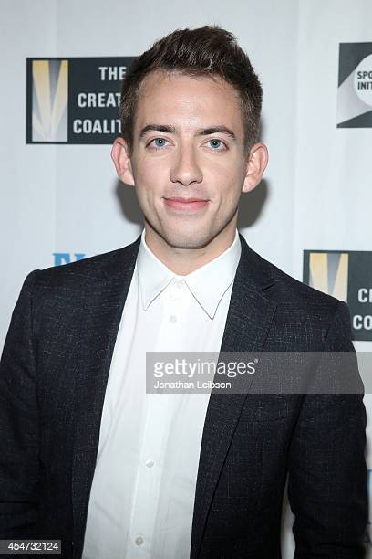 Actor Kevin McHale attends The Creative Coalition's Spotlight Initiative awards dinner during the 2014 Toronto International Film Festival at Trump...