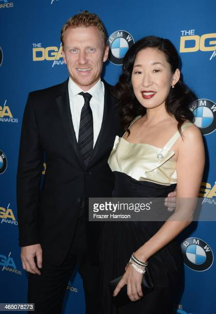 Actor Kevin McKidd and actress Sandra Oh attend the 66th Annual Directors Guild Of America Awards held at the Hyatt Regency Century Plaza on January...