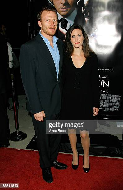 "Actor Kevin McKidd and his wife Jane Parker arrive at the premiere of Universal's ""Frost/Nixon"" held at the Academy of Motion Picture Arts and..."
