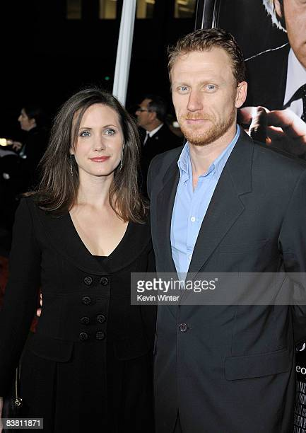 Actor Kevin McKidd and his wife Jane Parker arrive at the premiere of Universal's Frost/Nixon held at the Academy of Motion Picture Arts and...