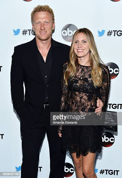 Actor Kevin McKidd and his wife Jane Parker arrive at the #TGIT Premiere Event hosted by Twitter at Palihouse Holloway on September 20, 2014 in West...