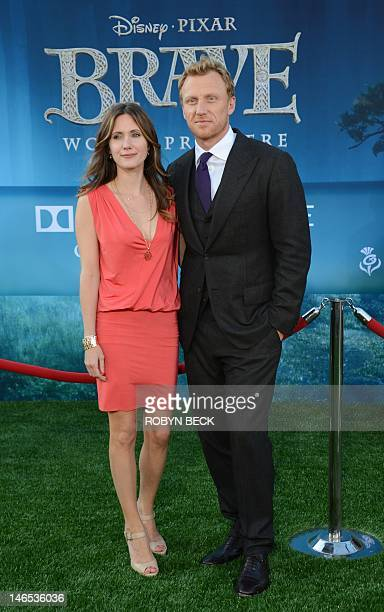 """Actor Kevin McKidd and Jane Parker arrive at the world premiere of Disney•Pixar's """"Brave,"""" June 18, 2012 at the Dolby Theatre in Hollywood,..."""