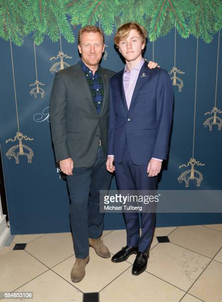 Actor Kevin McKidd and Joseph McKidd attend the Brooks Brothers holiday celebration with St Jude Children's Research Hospital at Brooks Brothers...