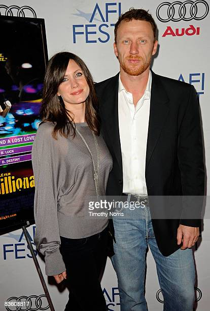 Actor Kevin McKidd and wife Jane Parker arrive at the 2008 AFI FEST Tribute to Danny Boyle held at ArcLight Hollywood on November 7 2008 in Hollywood...