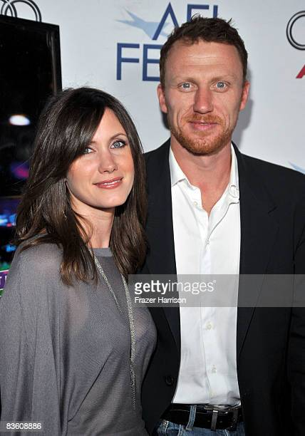 Actor Kevin McKidd and wife Jane Parker arrive at the 2008 AFI Fest Tribute To Danny Boyle held at Arclight Hollywood on November 7, 2008 in...