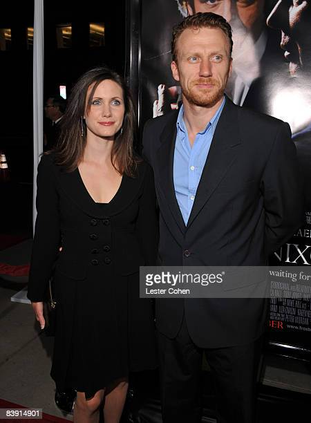 Actor Kevin McKidd and wife Jane Parker arrives at the Los Angeles premiere of Frost/Nixon held at the Academy of Motion Picture Arts and Science on...
