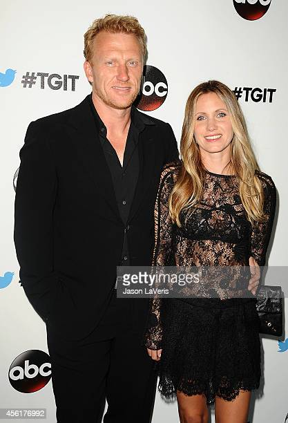 Actor Kevin McKidd and wife Jane Parker attend the #TGIT premiere event hosted by Twitter at Palihouse Holloway on September 20, 2014 in West...