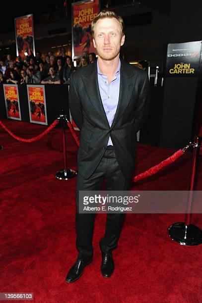 Actor Kevin McKidd arrives at the Walt Disney Presents John Carter premiere held at Regal Cinemas LA Live on February 22 2012 in Los Angeles...