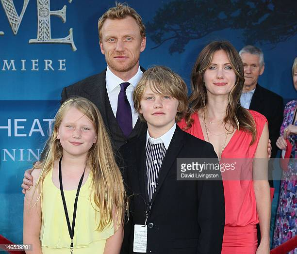 "Actor Kevin McKidd, wife Jane Parker and children attend Film Independent's 2012 Los Angeles Film Festival premiere of Disney Pixar's ""Brave"" at the..."