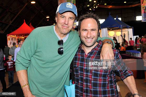 Actor Kevin Nealon and actor Randy Sklar attend the P.S. Arts Express Yourself 2013 event held at Barker Hangar on November 17, 2013 in Santa Monica,...
