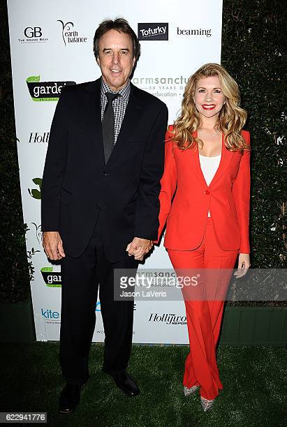 Actor Kevin Nealon and actress Susan Yeagley attend Farm Sanctuary's 30th anniversary gala at the Beverly Wilshire Four Seasons Hotel on November 12...