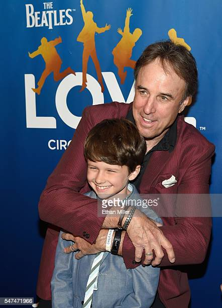 Actor Kevin Nealon and Gable Ness Nealon attend the 10th anniversary celebration of The Beatles LOVE by Cirque du Soleil at The Mirage Hotel Casino...