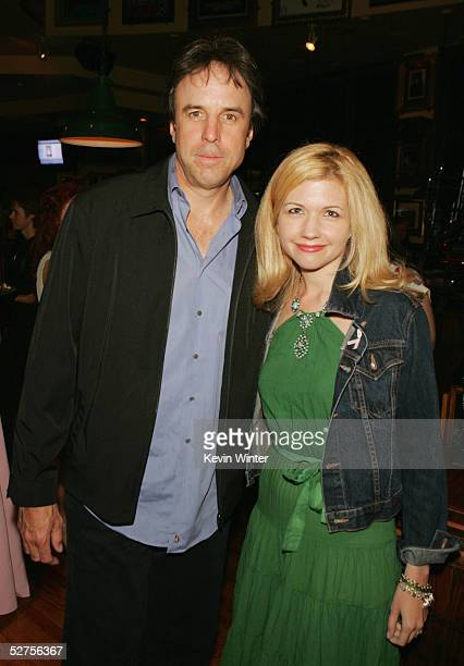 Actor Kevin Nealon and his wife Linda pose at Rock the Cure an auction of 50 custonmade Gibson guitars designed by celebrities and rock stars to...
