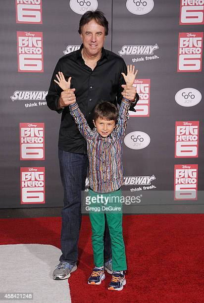 Actor Kevin Nealon and son Gable Nealon arrive at the Los Angeles premiere of Disney's Big Hero 6 at the El Capitan Theatre on November 4 2014 in...