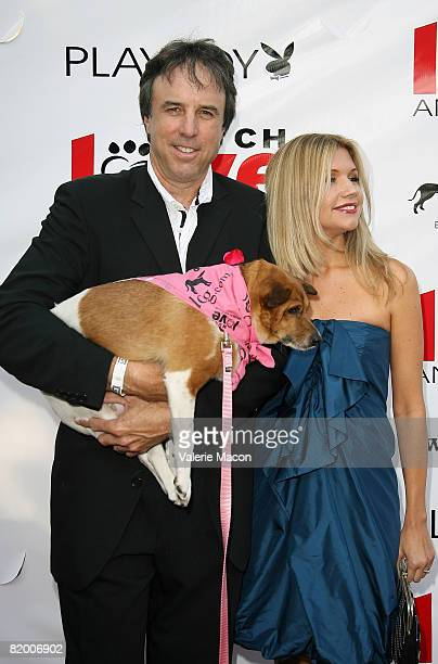 Actor Kevin Nealon and wife Susan Yeagley attend the 2nd Annual Bow Wow WOW Charity Even at the Playboy Mansion on July 17 2008 in Los Angeles...