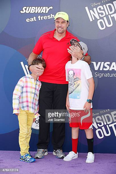 Actor Kevin Nealon Gable Ness Nealon and a guest attend Disney/Pixar's Inside Out Los Angeles Premiere at the El Capitan Theatre on June 8 2015 in...