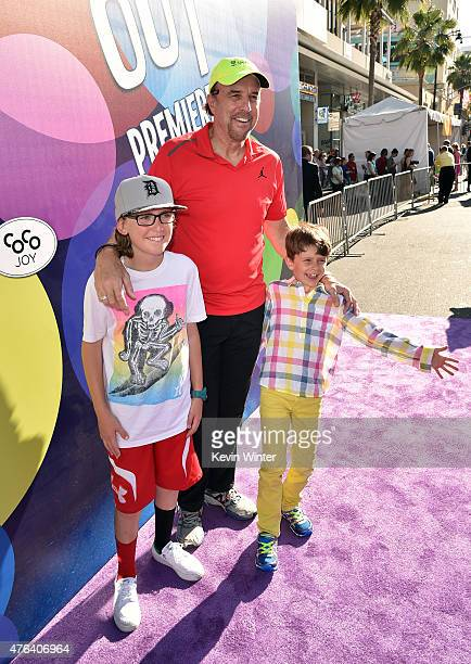 Actor Kevin Nealon Gable Ness Nealon and a guest attend the Los Angeles premiere of DisneyPixar's Inside Out at the El Capitan Theatre on June 8 2015...