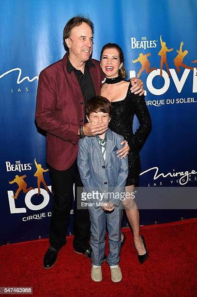 Actor Kevin Nealon Gable Ness Nealon and actress Susan Yeagley attend the 10th anniversary celebration of The Beatles LOVE by Cirque du Soleil at The...