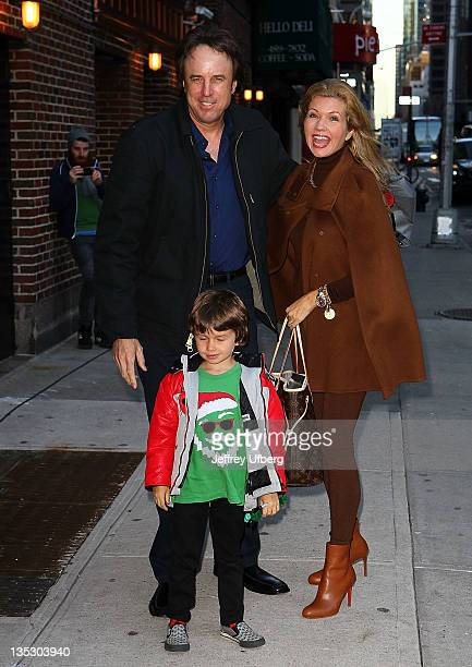 Actor Kevin Nealon son Gable Ness Nealon and wife Susan Yeagley arrive to 'Late Show With David Letterman' at the Ed Sullivan Theater on December 8...