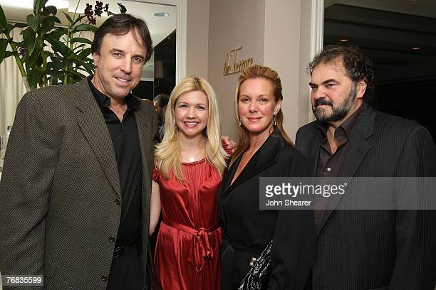 Actor Kevin Nealon w/ wife and Actress Elizabeth Perkins w/ husband attends The Gersh Agency EMMY Party w/Special Guest Frederic Fekkai held at The...