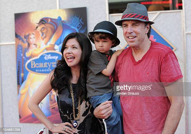 Actor Kevin Nealon with his son Gable Ness Nealon and wife Susan Yeagley arrive at Walt Disney Studios Beauty and the Beast SingAlong at the El...