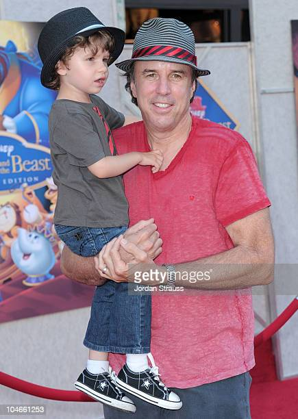 Actor Kevin Nealon with his son Gable Ness Nealon arrive at Walt Disney Studios Beauty and the Beast SingAlong at the El Capitan Theatre on October 2...