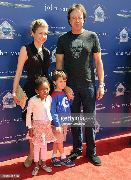Actor Kevin Nealon with wife and children attend the John Varvatos 10th Annual Stuart House Benefit held at John Varvatos Los Angeles store on March...