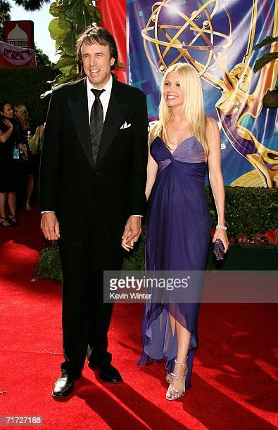 Actor Kevin Nealon with wife Susan Yeagley arrive at the 58th Annual Primetime Emmy Awards at the Shrine Auditorium on August 27 2006 in Los Angeles...