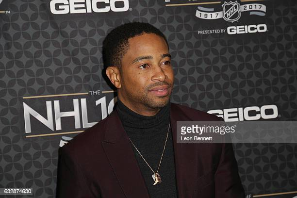 Actor Kevin Phillips arrives at the NHL 100 presented by GEICO Red Carpet as part of the 2017 NHL AllStar Weekend at the Microsoft Theater on January...