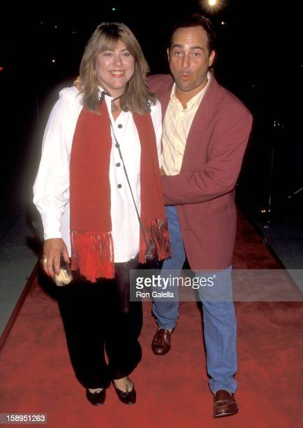 Actor Kevin Pollak and wife actress Lucy Webb attend the 'Malice' Beverly Hills Premiere on September 29 1993 at Academy Theatre in Beverly Hills...