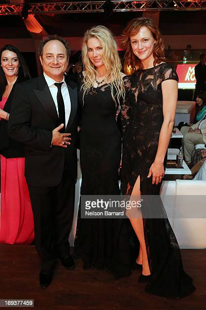 Actor Kevin Pollak, producer Kelly Greyson and actress Kerry Bishe attend the official after party for 'Max Rose' at The 66th Annual Cannes Film...