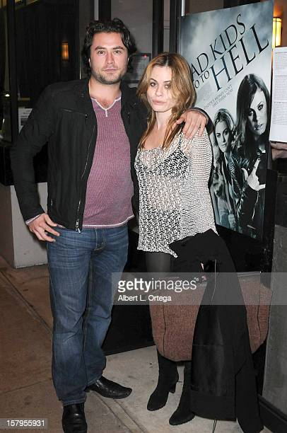 Actor Kevin Ryan and actress Augie Duke arrive for the Screening of Bad Kids Go To Hell held at Laemmle Music Hall Theater on December 7 2012 in...