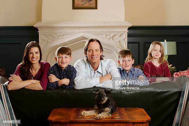 Actor Kevin Sorbo and his family are photographed at home in March in Calabasas California wife Sam Jenkins son Shane Sorbo son Braedon daughter...