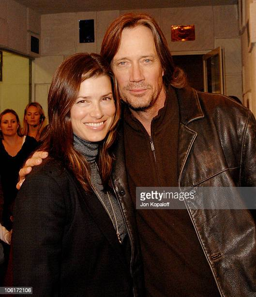 Actor Kevin Sorbo and wife Sam Jenkins arrive at the Los Angeles Premiere 'Meet The Spartans' at the Festival Theater on January 23 2008 in Westwood...
