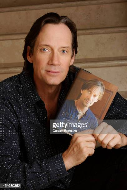 Actor Kevin Sorbo holding his 2011 autobiography True Strength is photographed at home in March in Calabasas California