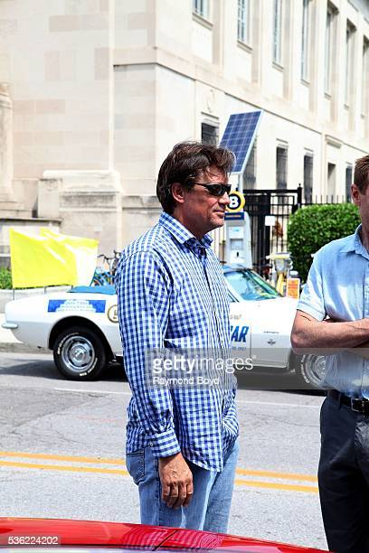 Actor Kevin Sorbo is interviewed outside the Indianapolis Central Library during the Indianapolis 500 Festival Parade in downtown Indianapolis...