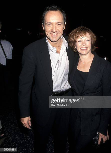 Actor Kevin Spacey and actress Frances Fisher attend the 'American Beauty' Hollywood Premiere on September 8 1999 at the Egyptian Theatre in...