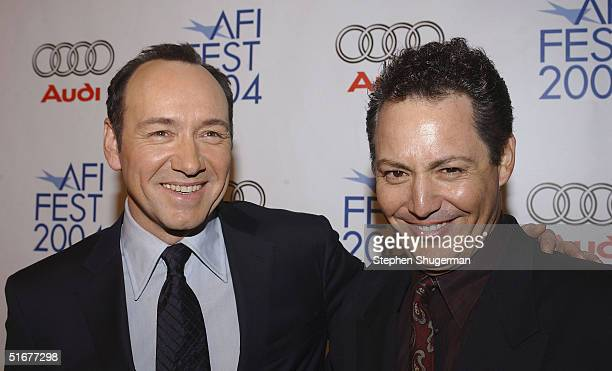 Actor Kevin Spacey and Bobby Darin's relative Dodd Darin attend the opening night of AFI Fest and the US Premiere of Beyond The Sea at the ArcLight...