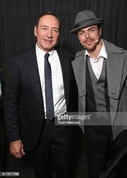 Actor Kevin Spacey and dancer/TV personality Derek Hough attend the MPTF 95th anniversary celebration with 'Hollywood's Night Under The Stars' at...