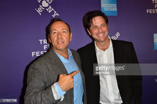 Actor Kevin Spacey and producer Brad Koepenick attend the premiere of Shakespeare High during the 10th annual Tribeca Film Festival at SVA Theater on...