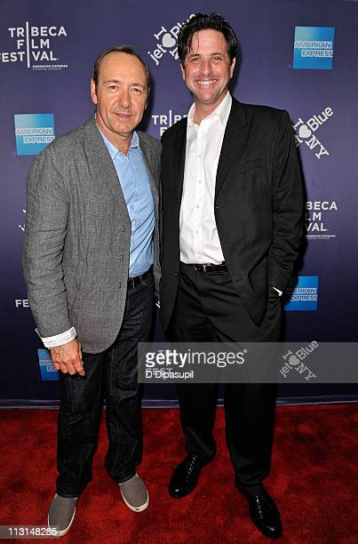 Actor Kevin Spacey and Shakespeare High producer Brad Koepenick attend the premiere of Shakespeare High during the 10th annual Tribeca Film Festival...